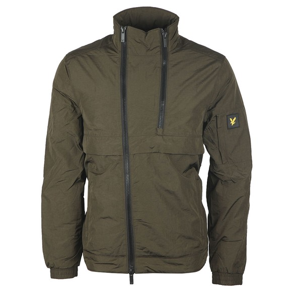 Lyle and Scott Mens Green Double Zip Jacket main image