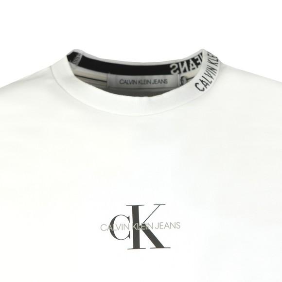 Calvin Klein Jeans Mens White Centre Monogram T-Shirt