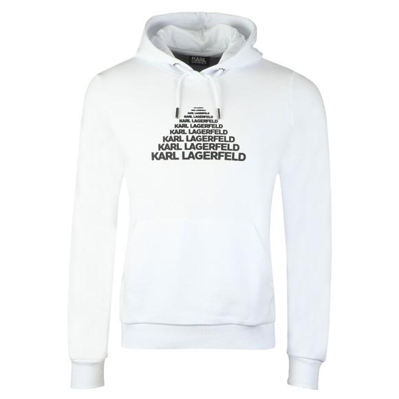 Karl Lagerfeld Mens White Pyramid Logo Hoody main image