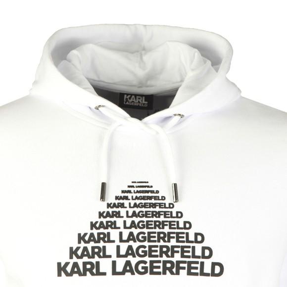 Karl Lagerfeld Mens White Pyramid Logo Hoody