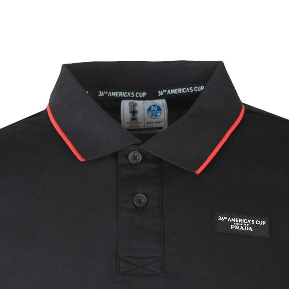 North Sails 36th Americas Cup presented by PRADA Mens Black Long Sleeve Polo Shirt