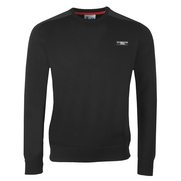 North Sails 36th Americas Cup presented by PRADA Mens Black Crew Neck Jumper