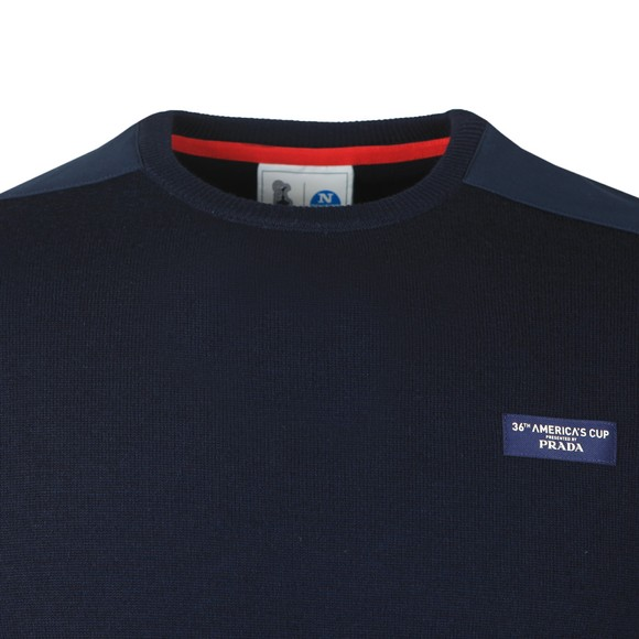 North Sails 36th Americas Cup presented by PRADA Mens Blue Crew Neck Jumper