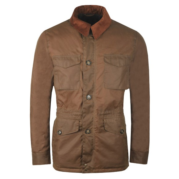 Barbour Lifestyle Mens Brown Teddon Wax Jacket