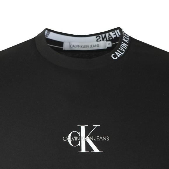 Calvin Klein Jeans Mens Black Centre Monogram T-Shirt