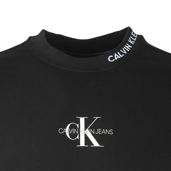 Calvin Klein Jeans Mens Black Centre Monogram Crew Sweatshirt