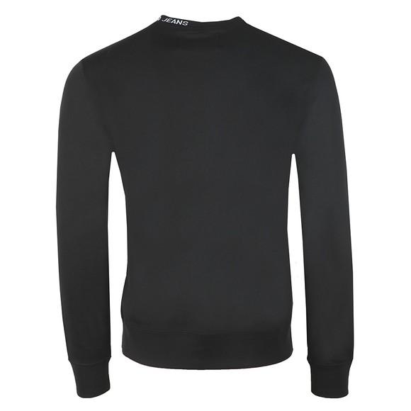 Calvin Klein Jeans Mens Black Centre Monogram Crew Sweatshirt main image