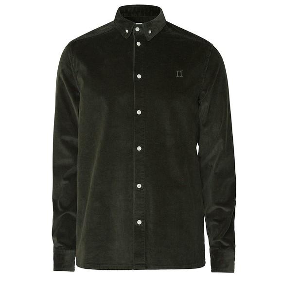 Les Deux Mens Green Felix Corduroy Shirt