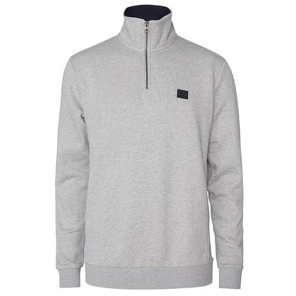 Les Deux Mens Grey Clinton Half Zip Sweatshirt