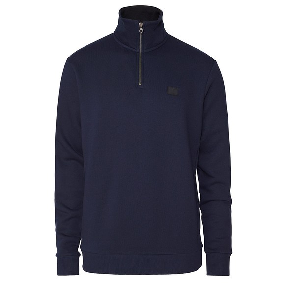 Les Deux Mens Blue Clinton Half Zip Sweatshirt main image
