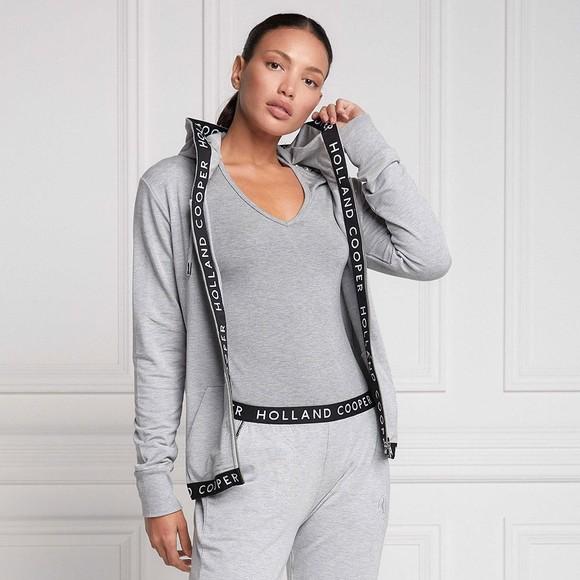 Holland Cooper Womens Grey Zip Lounge Hoody