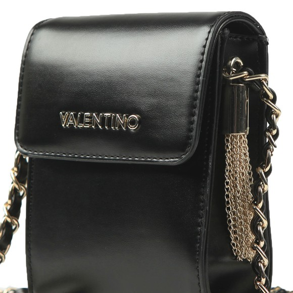Valentino by Mario Womens Black Alexander Pad Small Satchel