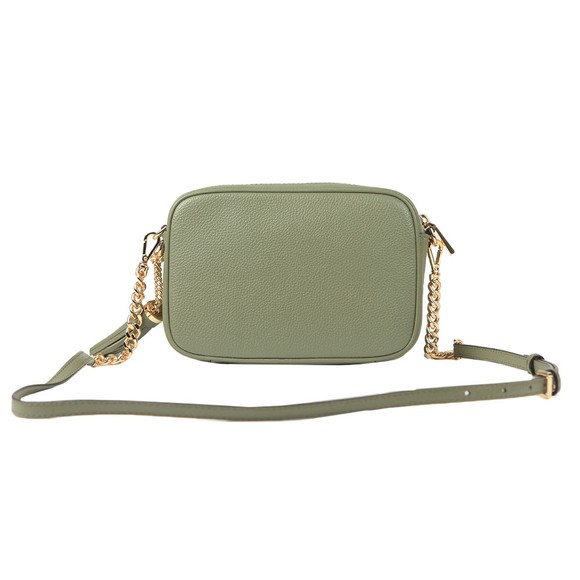 Michael Kors Womens Green Ginny Leather Crossbody