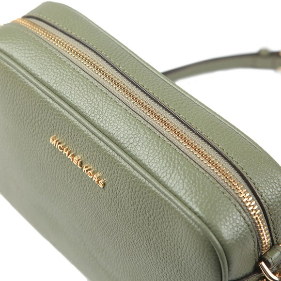 Michael Kors Womens Green Ginny Leather Crossbody main image