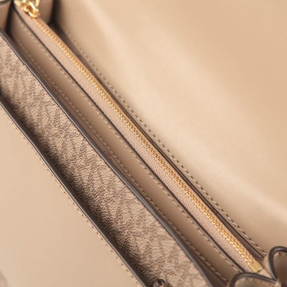 Michael Kors Womens Beige Jade Gusset Shoulder Bag main image
