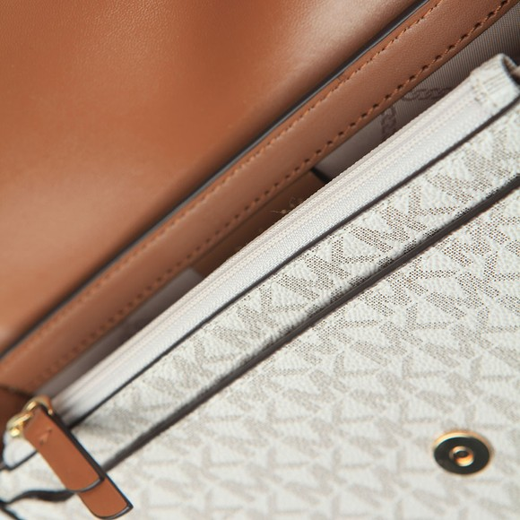 Michael Kors Womens Off-White Mid Half Dome Chain Crossbody Bag main image