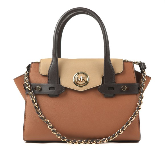 Michael Kors Womens Brown Carmen Satchel