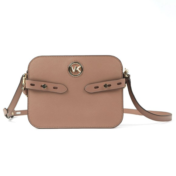 Michael Kors Womens Dark Fawn Carmen Camera Crossbody Bag