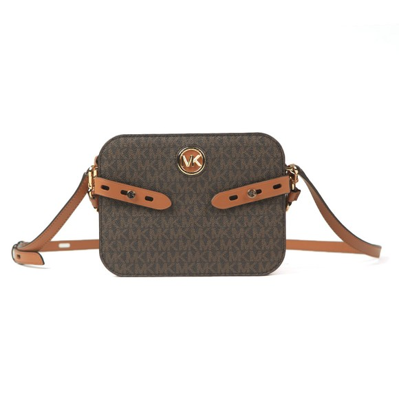 Michael Kors Womens Brown Carmen Camera Crossbody Bag