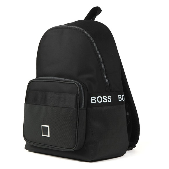 BOSS Mens Black BW Pixel Backpack