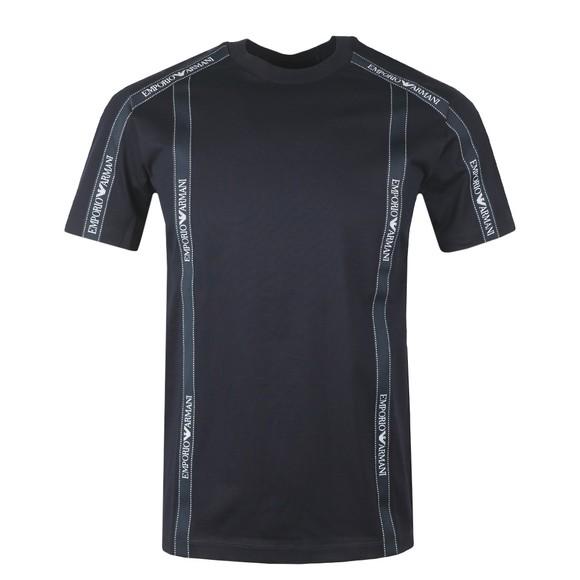 Emporio Armani Mens Blue Tape T-Shirt