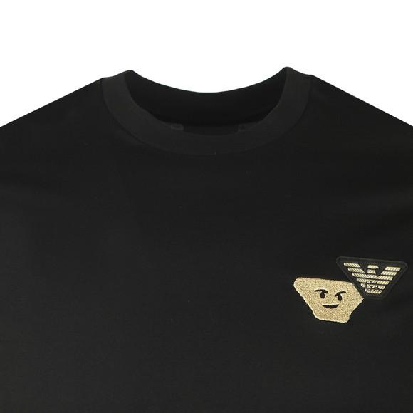 Emporio Armani Mens Black Gold Logo T-Shirt
