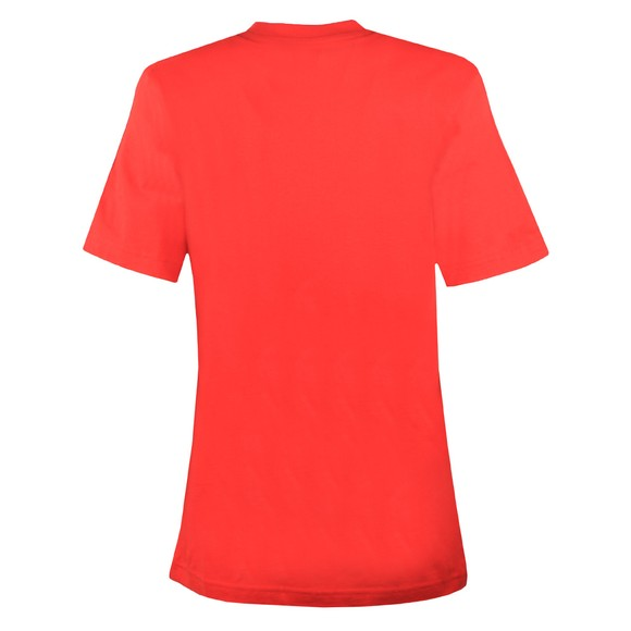 adidas Womens Scarlet/White Essential 3 Stripe T-Shirt main image