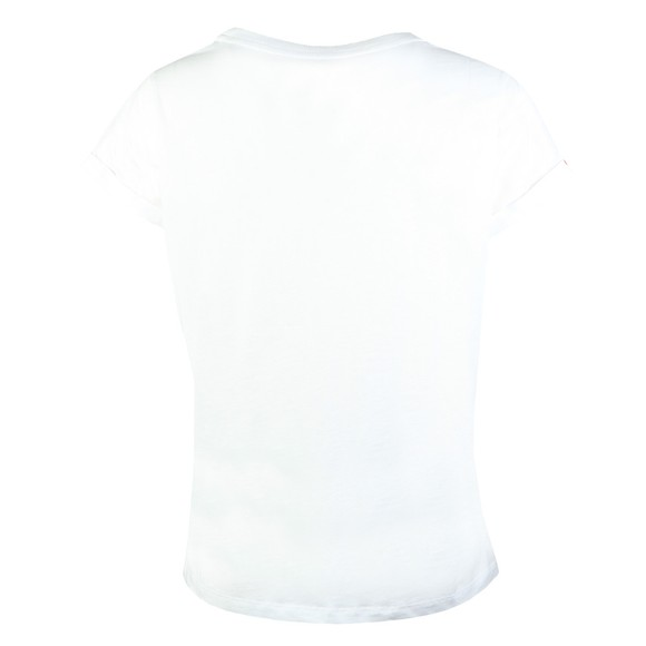 Tommy Hilfiger Womens White SS Round Neck T-Shirt main image