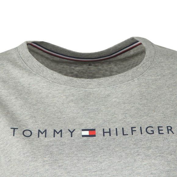 Tommy Hilfiger Womens Grey SS Round Neck T-Shirt