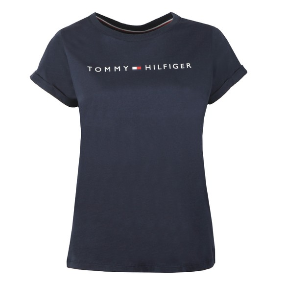 Tommy Hilfiger Womens Blue SS Round Neck T-Shirt
