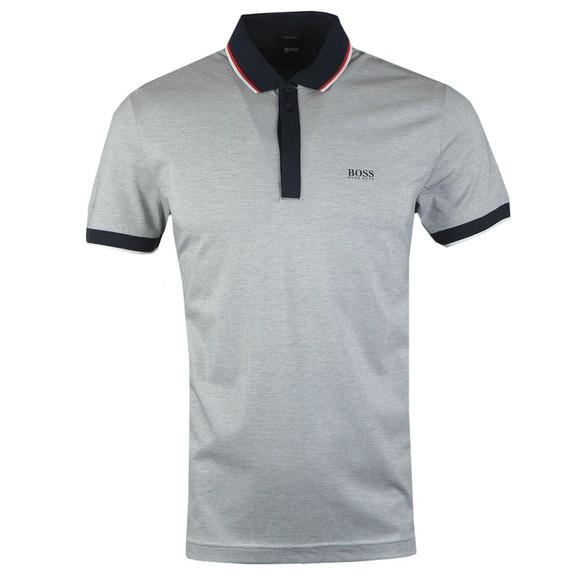 BOSS Mens Blue Athleisure Paddy 2 2 Button Polo Shirt