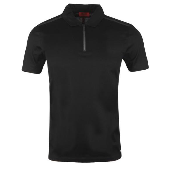 HUGO Mens Black Dilvio Polo Shirt
