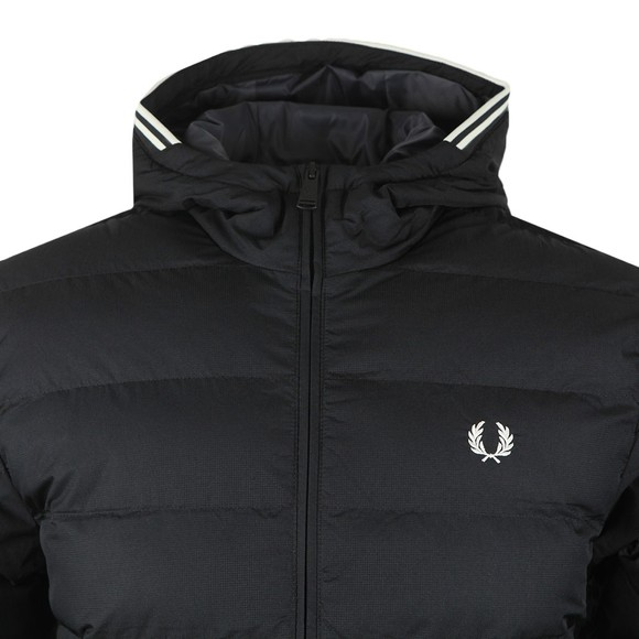 Fred Perry Mens Black Hooded Insulated Jacket