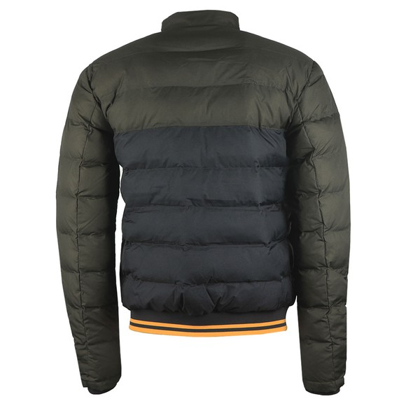 Fred Perry Mens Green Colour Block Jacket main image