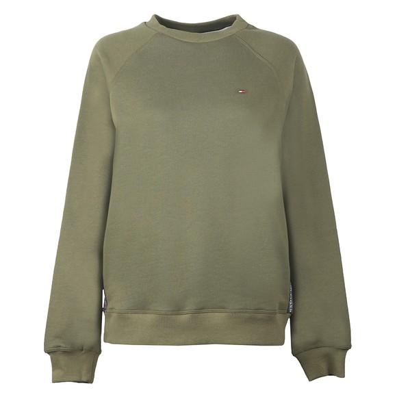 Tommy Hilfiger Womens Green Crew Neck Sweatshirt