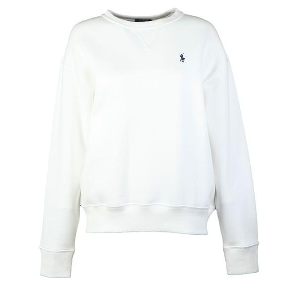 Polo Ralph Lauren Womens White Crew Neck Sweatshirt