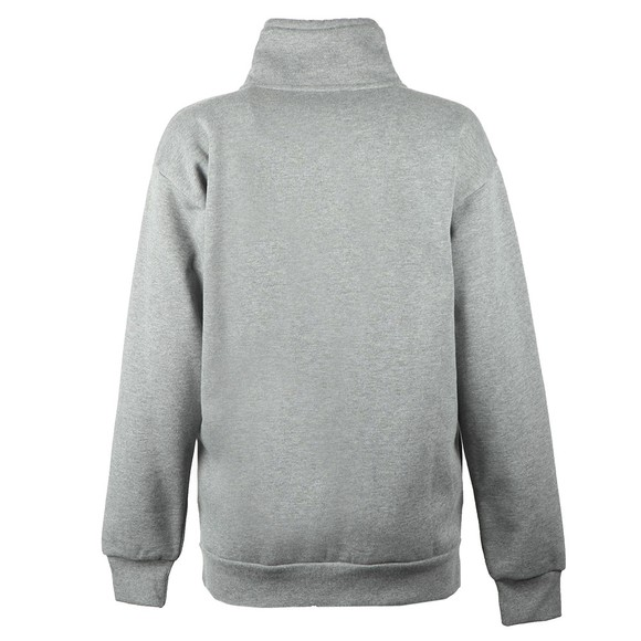 Emporio Armani Womens Grey Logo Half Zip Sweatshirt main image