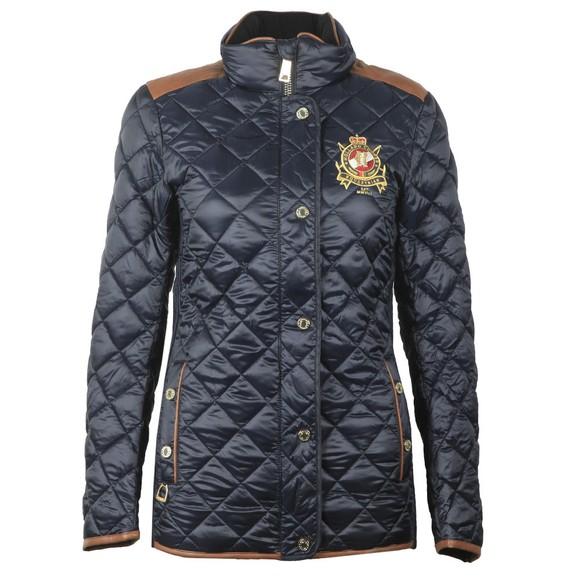 Holland Cooper Womens Blue Diamond Quilt Classic Jacket main image