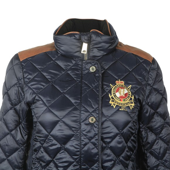 Holland Cooper Womens Ink Navy Diamond Quilt Classic Jacket