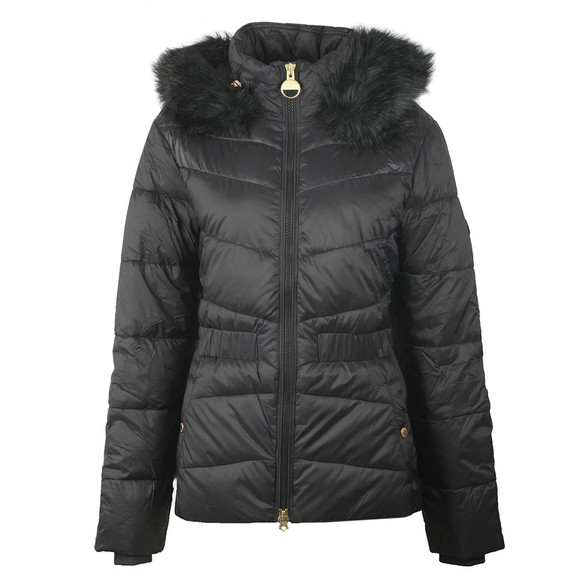Barbour International Womens Black Checkside Quilted Jacket