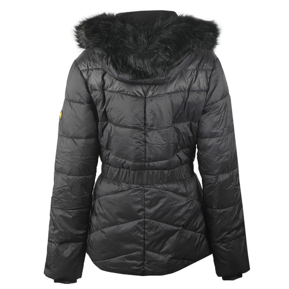 Barbour International Womens Black Checkside Quilted Jacket main image
