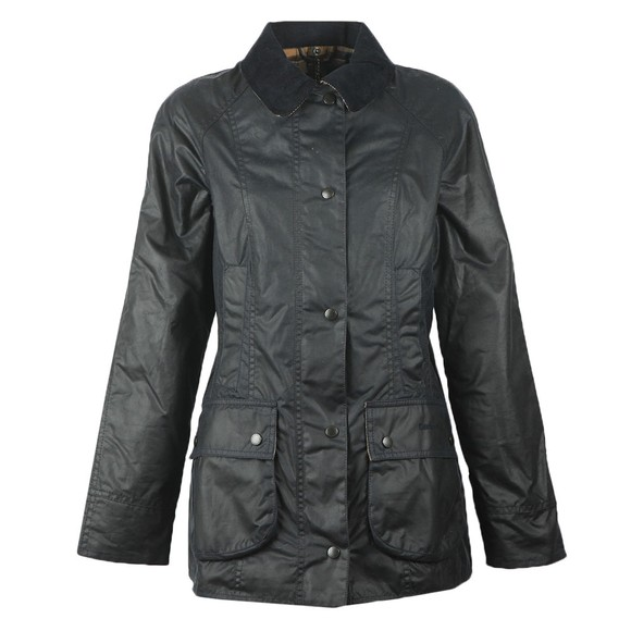Barbour Lifestyle Womens Blue Beadnell Wax Jacket