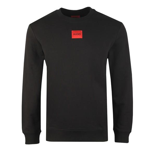 HUGO Mens Black Diragol Crew Sweatshirt