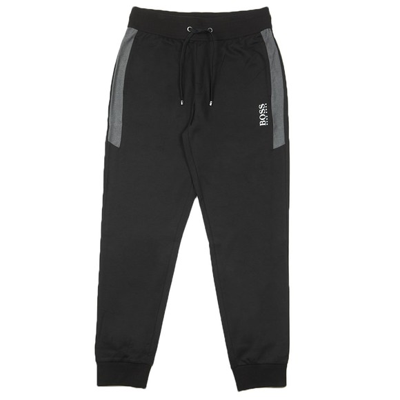BOSS Bodywear Mens Black Small Logo Jogger main image