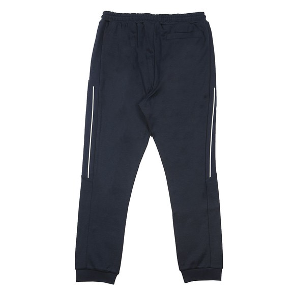 BOSS Mens Blue Athleisure Hadiko Curved Jogger