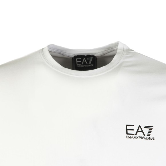 EA7 Emporio Armani Mens White Back Tape T-Shirt
