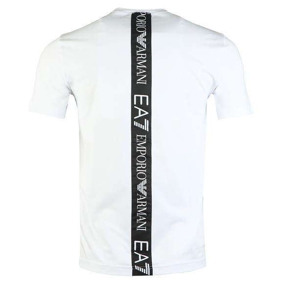 EA7 Emporio Armani Mens White Back Tape T-Shirt main image