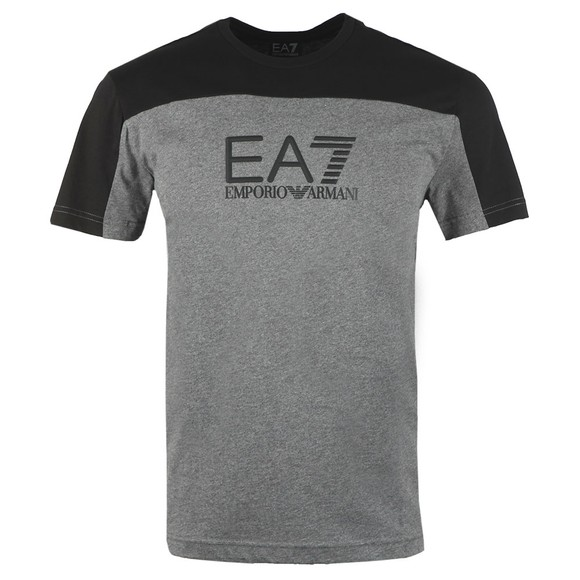 EA7 Emporio Armani Mens Grey Big Logo T-Shirt