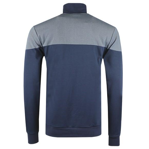BOSS Bodywear Mens Blue Embroidered Logo Full Zip Sweatshirt main image