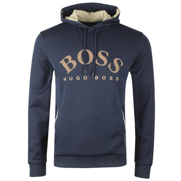 BOSS Mens Blue Athleisure Soody Hoody